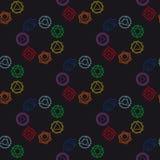 Fondo geométrico abstracto, siete chakras humanos, seaml del vector Imágenes de archivo libres de regalías