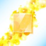 Fondo geométrico amarillo brillante con el panel de cristal. Fotografía de archivo