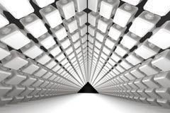 Fondo geométrico arquitectónico con un paso stock de ilustración