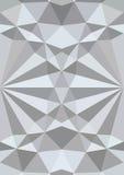 Fondo geométrico blanco de la textura 3d Vector Imagen de archivo