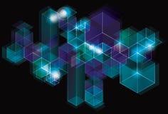 Fondo geométrico chispeante futurista del cubo