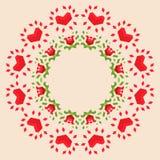 Fondo geométrico circular Imágenes de archivo libres de regalías