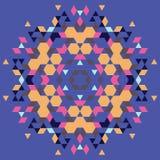 Fondo geométrico circular Imagenes de archivo