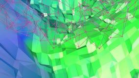 Fondo geométrico colocado estilo polivinílico bajo abstracto animación inconsútil 3d en 4k Colores modernos de la pendiente Azul  ilustración del vector
