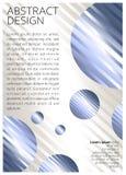 Fondo geométrico coloreado extracto con las bolas y las rayas stock de ilustración
