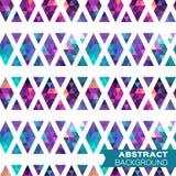 Fondo geométrico colorido abstracto de los triángulos ilustración del vector