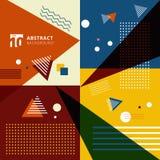 Fondo geométrico colorido abstracto del estilo del modelo Foto de archivo libre de regalías