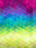 Fondo geométrico colorido abstracto Ilustración del vector Imagen de archivo