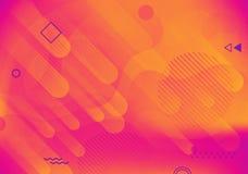 Fondo geométrico colorido abstracto moderno Formas con la composición de moda de las pendientes para su diseño ilustración del vector