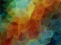 Fondo geométrico colorido con los triángulos Foto de archivo libre de regalías