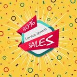Fondo geométrico colorido de la cartelera de las ventas del extracto stock de ilustración