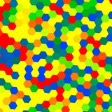 Fondo geométrico colorido - hexágonos Imagen de archivo