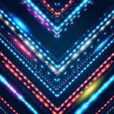 Fondo geométrico con la flecha brillante estilizada. Imagen de archivo libre de regalías