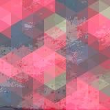 Fondo geométrico con textura del grunge Imagen de archivo libre de regalías