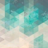 Fondo geométrico con textura del grunge Foto de archivo