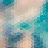 Fondo geométrico con textura del grunge Imagenes de archivo