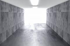 Fondo geométrico concreto del extracto con la luz 3d rinden libre illustration