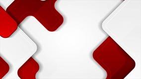 Fondo geométrico corporativo del movimiento de la tecnología roja y gris