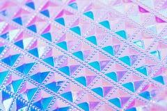 Fondo geométrico creativo ultravioleta olográfico Fotos de archivo libres de regalías