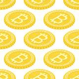 Fondo geométrico 3d con los bitcoins Foto de archivo
