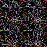 Fondo geométrico de círculos y de líneas Imagenes de archivo