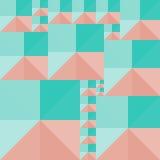 Fondo geométrico de cuadrados y de triángulos coloreados Foto de archivo libre de regalías