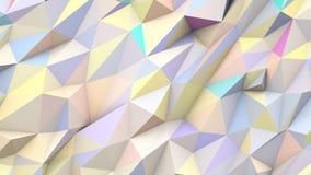 Fondo geométrico de la forma de los colores polivinílicos abstractos en colores pastel de los triángulos Fotos de archivo libres de regalías