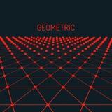 Fondo geométrico de la tecnología Concepto futurista Triángulos conectados con los puntos Fotos de archivo