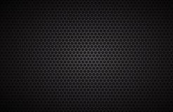 Fondo geométrico de los polígonos, papel pintado metálico negro abstracto Imagen de archivo libre de regalías