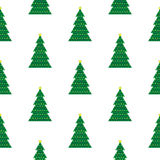 Fondo geométrico del árbol de navidad Fotografía de archivo