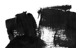 Fondo geométrico del extracto de la pintada Papel pintado con efecto de la acuarela del aceite Textura negra del movimiento de la Foto de archivo libre de regalías