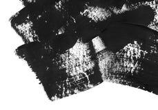 Fondo geométrico del extracto de la pintada Papel pintado con efecto de la acuarela del aceite Textura negra del movimiento de la foto de archivo