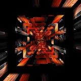 Fondo geométrico del fractal revuelto de la armadura Foto de archivo