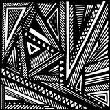 Fondo geométrico del grayscale Fotografía de archivo