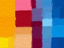 Fondo geométrico del modelo del bloque del color de la forma ilustración del vector