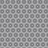 Fondo geométrico del modelo del hexágono de la materia textil blanco y negro retra Fotos de archivo