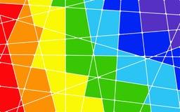 Fondo geométrico del mosaico del arco iris del extracto ilustración del vector
