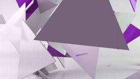 Fondo geométrico del movimiento del triángulo de la forma metrajes