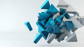Fondo geométrico del movimiento del triángulo de la forma almacen de video