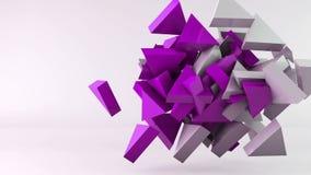 Fondo geométrico del movimiento del triángulo de la forma almacen de metraje de vídeo