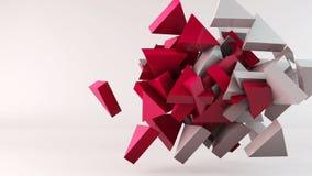 Fondo geométrico del movimiento del triángulo de la forma ilustración del vector