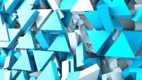 Fondo geométrico del movimiento del triángulo de la forma stock de ilustración