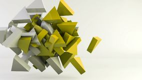 Fondo geométrico del movimiento del triángulo de la forma libre illustration