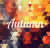 Fondo geométrico del otoño Ilustración del Vector