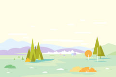 Fondo geométrico del paisaje de la naturaleza Imagenes de archivo