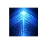 Fondo geométrico del triángulo azul Foto de archivo