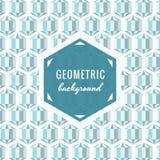 Fondo geométrico del vector (azul claro) con los cristales del hexágono libre illustration