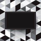 Fondo geométrico del vector blanco y negro. stock de ilustración