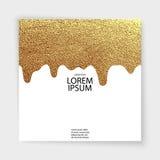Fondo geométrico del vector del brillo abstracto del oro Fotografía de archivo libre de regalías