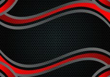 Fondo geométrico del vector del extracto del color negro y rojo con diseño moderno del espacio de la copia Fotos de archivo